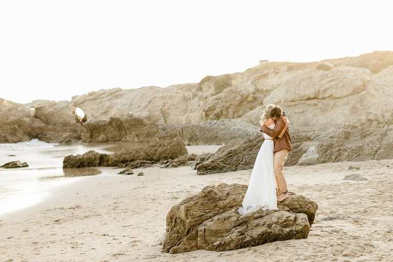 Malibu Elopement wedding on the beach and it's one of the best places to elope in California