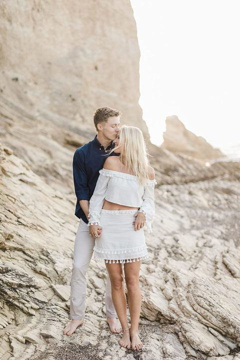 Couple in Montana De Oro with 2-piece boho outfit