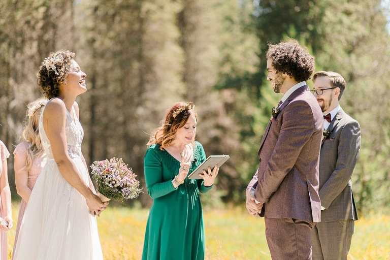 Long Meadow elopement ceremony in Sequoia National Park