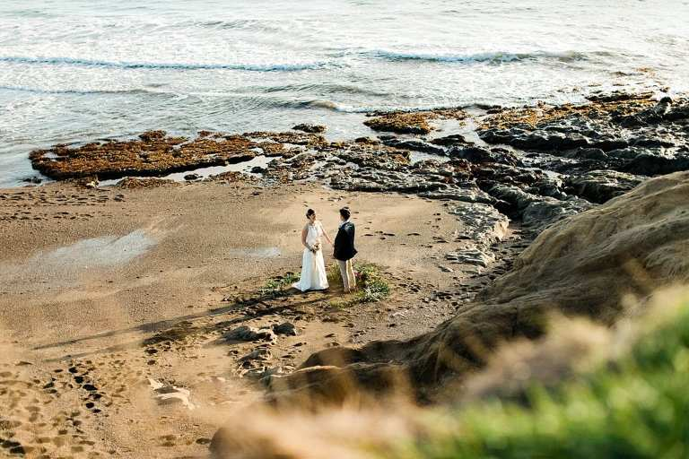 best place to elope in San Francisco is Rodeo Beach