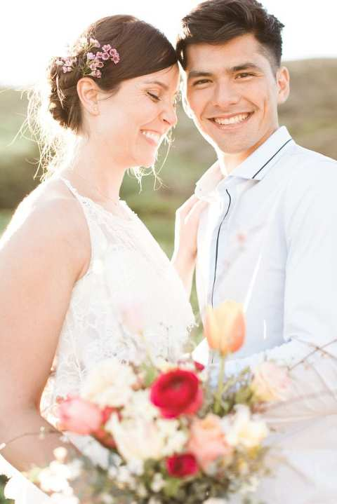 Spring beach Marin Headlands wedding