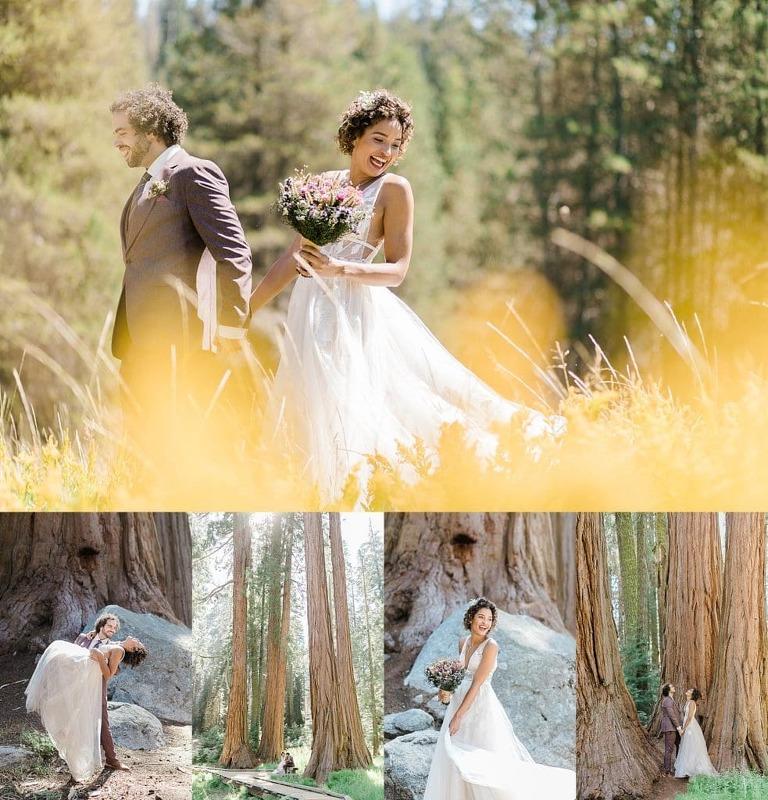Elopement wedding ceremony in Sequoia National Park